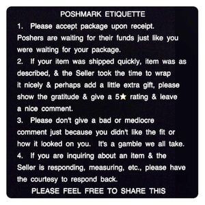 Other - Please Read! Posh Etiquette